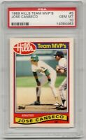 1989 Topps Hills Team MVP's Oakland A's #5 Jose Canseco PSA GEM MINT 10 ~POP 2