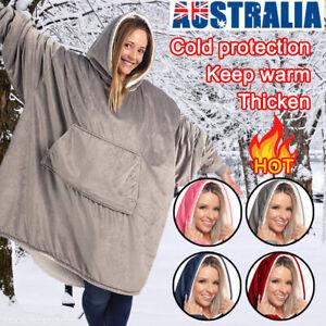 Comfy Blanket Hoodie Ultra Plush Giant Sweatshirt Huggle Fleece Warm With Hooded