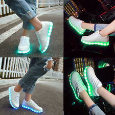 Fashion Women Men Light Up Sport Fluorescent Tennis Sneakers Luminous Flat Shoes