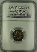 (1000-1300) France Maguelonne Silver Denier Coin Roberts-4336 NGC VF Details AKR