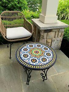 Mosaiktisch -Orientalischer Mosaiktisch - Handgefertigt - Rund Ø 40 cm