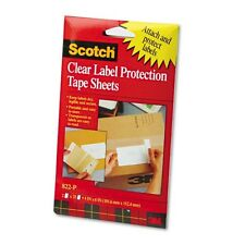 """3M Heavyweight 4"""" x 6"""" Clear Label Protector Tape Sheets - 822P"""