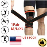 1 Pair 3D Weaving Knee Brace Pad Support Compression Breathable Running Support