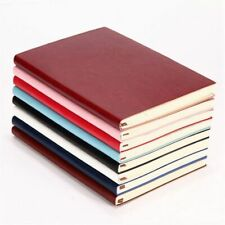 6 Color Random Soft Cover PU Leather Notebook Writing Journal 100 Page Lined 3R2