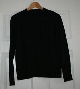 COS Pullover schwarz Rundhals 100% Merinowolle Gr. S NEU