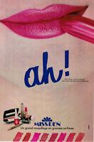 PUBLICITÉ DE PRESSE 1981 AH ! MISS DEN UN GRAND MAQUILLAGE EN GRANDES SURFACES