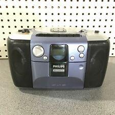 Vintage Philips Magnavox AZ1103/17 AM-FM Radio/Cassette/CD Boombox Tested Used