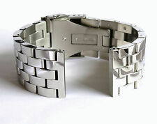 22mm SOLID POLISHED STAINLESS STEEL WATCH BAND,BRACELET WITH DOUBLE LOCK
