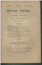 Revue Alpine - Section Lyonnaise - Octobre 1897- Mont-Blanc 1866 - Les Ecrins