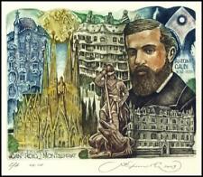 Kirnitskiy Sergey 2003 Exlibris C4 Antoni Gaudi Architect Dragon Church 69