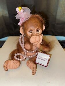 """Ashton Drake Couldn't Be Cuter Collection 5"""" Monkey Retired, Rare, Beautiful🤩"""