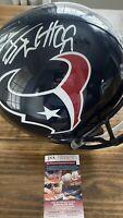 JJ WATT Signed Autographed AUTO Full Size Texans Helmet JSA COA