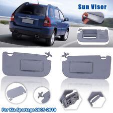 Driver & Passenger Side Front Sun Visor Shade W/ Mirror For Kia Sportage 2005-10