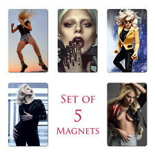 Lady Gaga Fridge Magnets Set of 5 NEW Paparazzi Just Dance Alejandro Judas