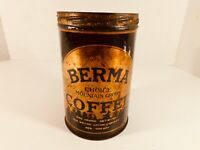 Vintage 1930s Berma Coffee 1 lb. Tin, Grand Union Company New York City