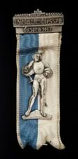 1953 Swiss Shooting ribbon with medal! Luzern! 25.6 grams, 4.5 inches long!