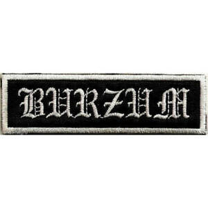1Burzum embroidered patch black Metal vary neopagan astral threads
