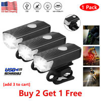 USB Rechargeable LED Bicycle Headlight Head IR Light Front Rear Lamp Cycling RGF
