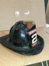 Antique Cairns & Brother Leather Fire Helmet MANVILLE NJ Fire Department Dept