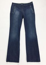 Monica Magni jeans w30 44 donna dritti vita bassa blu straight usato slim T1369