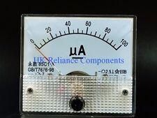 DC Microammeter #85 100uA Panel Ampere Meter 65x56mm