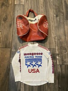 VTG 1980s BMX Rad USA Mongoose Factory Team Jersey and Gear Bag