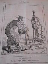 Caricature 1878 Les négociations aiguiser les épées