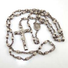 Vintage Sterling Silver Rosary Prayer Catholic Religious Cross Crucifix LQ6-G