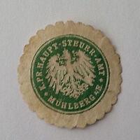 Siegelmarke Vignette K. Pr. Haupt-Steuer-Amt Mühlberg (7392)