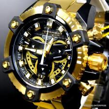 Invicta Coalition Forces Grand Octane Black Gold Tone Steel 58mm Swiss Watch New
