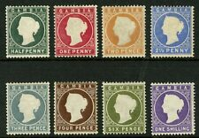 Gambia   1886-93  Scott # 12-19  Mint Hinged Set
