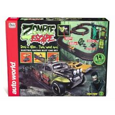 Auto World 14-Foot Zombie Escape X-Traction HO Slot Car Racing Set - FREE SHIP!