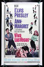 VIVA LAS VEGAS * CineMasterpieces 1964 ORIGINAL MOVIE POSTER ELVIS PRESLEY