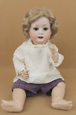 "22"" antique bisque head composition German Heubach character baby doll"