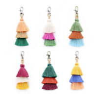 FT- Fashion Women Colorful Tassel Keychain Car Key Ring Handbag Decor Pendant Ne