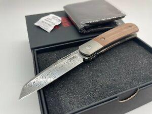 Enrique Pena X-Series Apache Loki Damascus Blade w/ Brown Micarta - NEW!