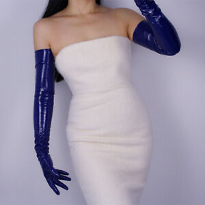 Sexy Gloves Faux Latex Patent PU Leather Everyday Party Clubwear Women Mittens