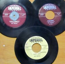 BLUES/ROCK 'N' ROLL Lot: 3 ROY BROWN Imperial 45s 1956-1957 New Orleans sessions