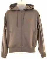 ADIDAS Mens Hoodie Sweater Medium Grey Polyester  P209