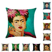 Frida Kahlo Portrait Painting Design Throw Pillow Case Decorative Linen Cover