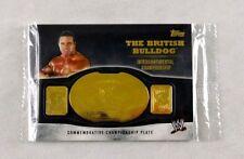 British Bulldog Davey Boy Smith WWE Wrestling Trading Card Topps WWF Plate Relic