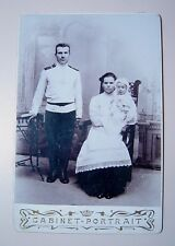 Imperial Russia Old Cabinet photo Family baby soldier