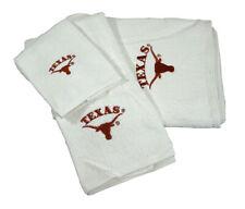University of Texas Longhorns 3 Piece Embroidered Logo Bathroom Bath Towel Set