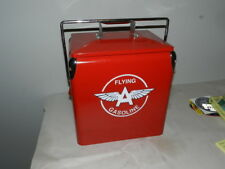 VINTAGE STYLE FLYING A GASOLINE COOLER- METAL- VINTAGE SERVICE STATION- GAS PUMP