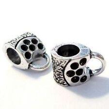 10 piezas tibetano aleación de plata encanto colgante perlas encajan pulsera-a4229