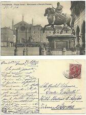 Piacenza - Piazza Cavalli - Monumento a Ranuzio Farnese - Tram - Viaggiata 900'