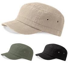 Urban Army Hat Baseball Cap Cotton Sun Hat Adjustable Beechfield cadet/military