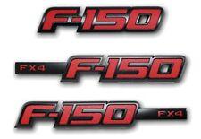 FORD F150 F-150 2012 FX4 RED APPEARANCE BADGE EMBLEM KIT 3 PIECE OEM