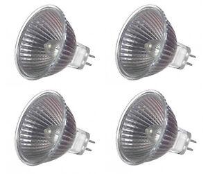 4pc 35W 12V MR16 Halogen Downlight 3000 Hour Glass Covered Lamp – Down Light