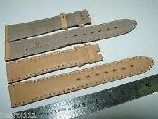Un bracelet cuir beige UNIVERSAL GENEVE 17 mm montre vintage or chronographe